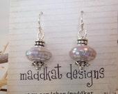 Mosiac Bead Sterling Silver Earrings