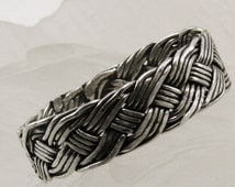 Handwoven Sterling Silver Ring, Braid Sterling Silver Ring, SIlver Ring, Handmade woven Ring, Silver Ring