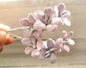 Love II - pale vintage purple hair flowers