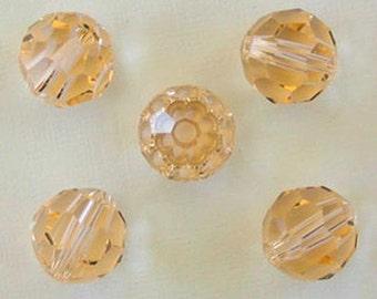 NEW Set of (8) 8MM Swarovski Crystal Round Beads in Beautiful Silk