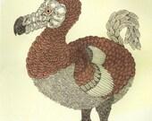 Pink Dodo Bird Screenprint 18x24