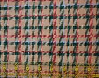 SPECIAL! Fabric Quilt 100% Quality Cotton 1 Yard Plaid-Peddler Village by Sara Scott