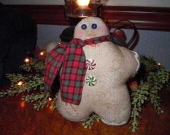 Primitive Gingerbread Man Ornie FAAP