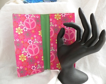 Pink Peace Signs Checkbook Cover