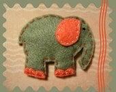 Gentle Elephant: Handmade Felt Elephant Hair Clip