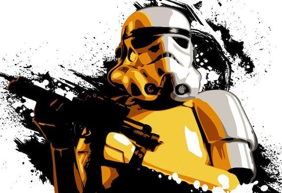 Star Wars Stormtrooper inspired Fan Art by MediaGraffitiStudio