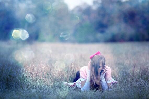 1970s Small Dress - Pink White Blue - Bohemian Folk Hippie - Tie Dye A-Line