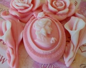 Cameo and Roses Soap - gifts for mom, stocking for woman