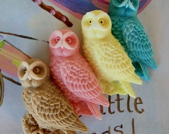 80 Owl Soap - halloween decoration, fall wedding favor, owl baby shower favor