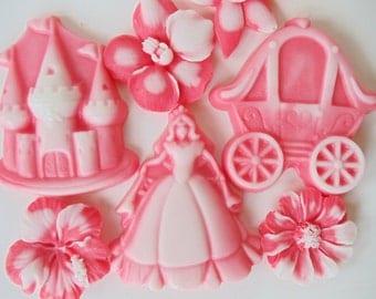 12 Princess Party Soap - Princess, Castle and Carriage Favors