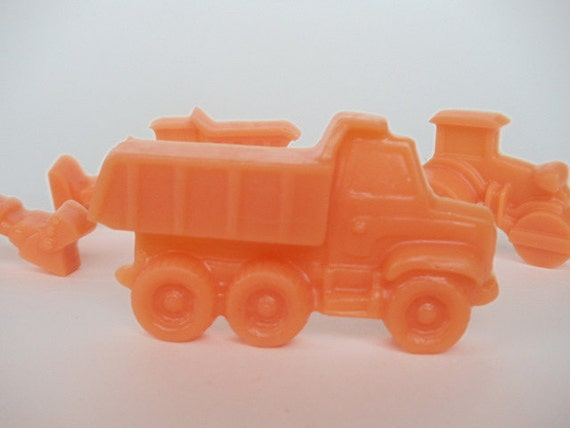 30 Construction Vehicle Soap - digger, truck, backhoe, tractor