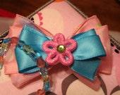 Girls Sring Flower Bracelet & Barrette Set