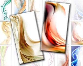 Abstract Assortment digital collage sheet domino tile 1x2 inches (172) Buy 3 - get 1 free