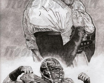 Baltimore Ravens Ray Lewis Art Poster