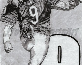 Chicago Bears Robbie Gould Art Poster