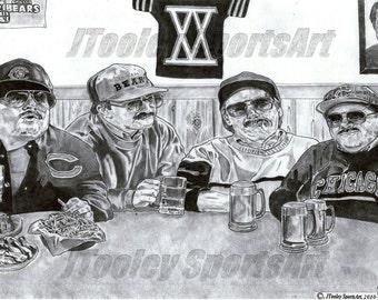 Da Bears! Chris Farley Art Poster