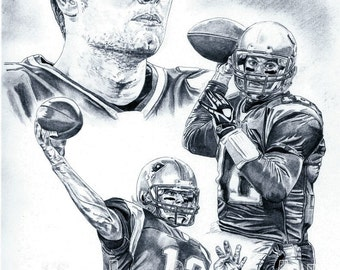 New England Patriots Tom Brady art poster