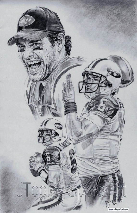 N.Y. Jets Mark Sanchez Art Poster