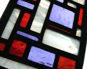 Patchwork Stained Glass Panel