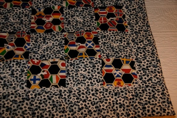 World Cup Soccer Baby Quilt