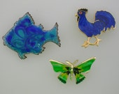 PRICE REDUCED - Old MacDonald Had An Enamel Animal Pin Farm