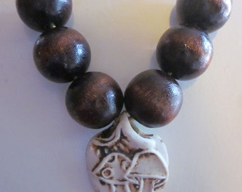 "PRICE REDUCED - I'm  A ""Fun-gi"" Vintage Mushroom Necklace"
