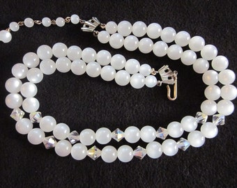 Vintage Two Strand Costume Necklace
