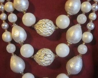 Always a Bridesmaid Vintage 3-Strand Necklace