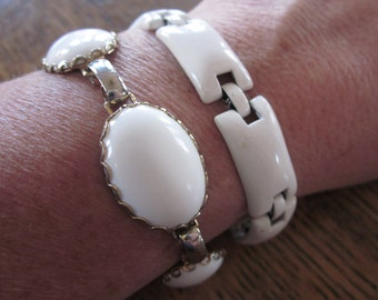 White As The Driven Snow - Two Vintage Bracelets