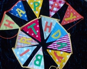 HAPPY BIRTHDAY boys/girls fabric banner/bunting - made to order