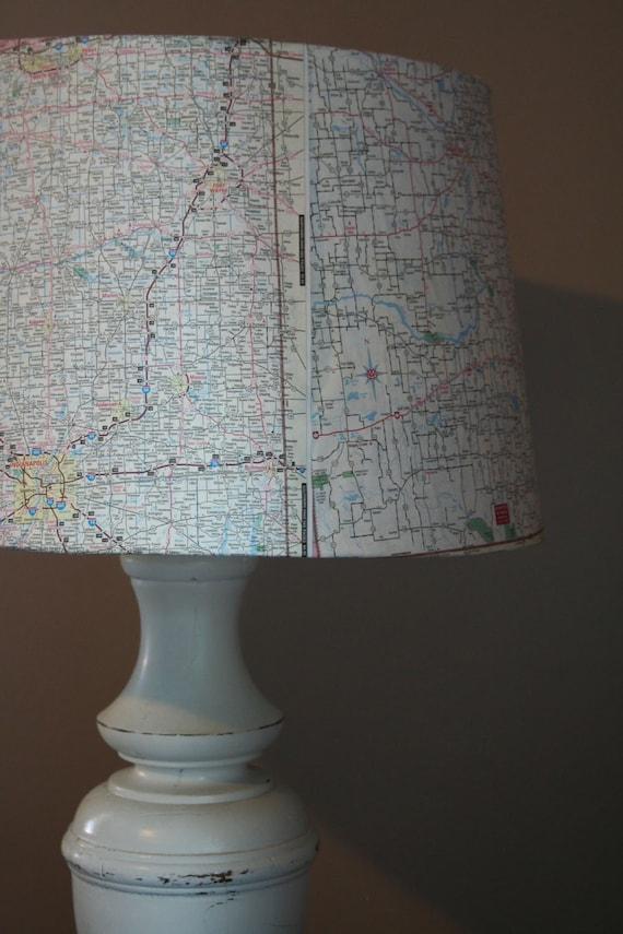 Travelers Map Lamp Shade
