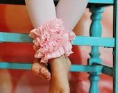 Pink Ruffle  Footless Tights