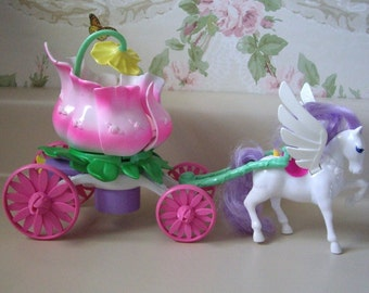 PRINCESS Of the FLOWERS Pony Carriage with original box, Never played with condition