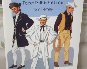 Clark Gable Paper Doll Booklet by Tom Tierney, Uncut