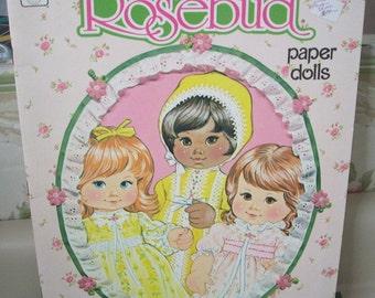 Vintage 1975 ROSEBUD Paper Doll Book UNCUT