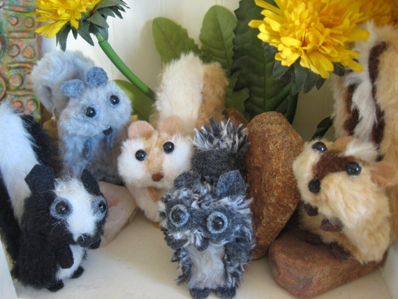 Finger Puppets Woodland Critters-set of 5