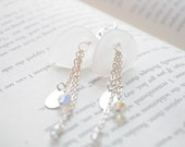 Liliana Earrings- White Calla Lily earrings with sterling silver and swarovski crystals