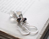 Stormy Night--Faceted Charcoal crystal and czech glass