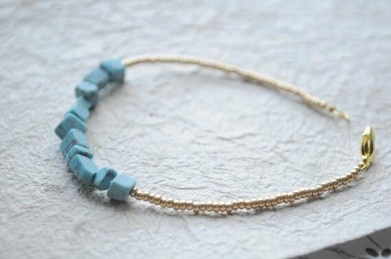 Beach Bracelet No.7--  Summer seed bead bracelet