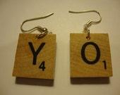 Scrabble tile earrings - You choose