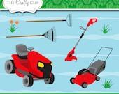 SALE! Lawn Mower Clip Art Set