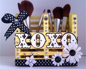 Makeup Brush Holder XoXo Yellow