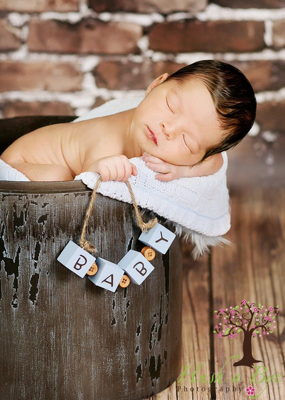 Fun and Unique Baby Blocks Photography Prop