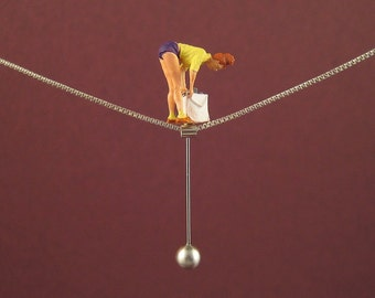 """Tightrope walk """"SHOPPING"""" - Necklace"""