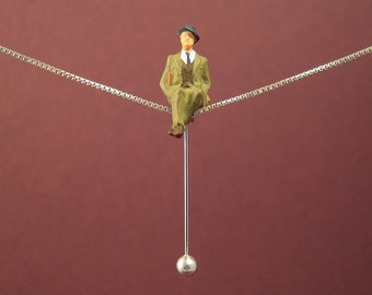 "Tightrope walk ""MAN ON A ROPE"" - Necklace"