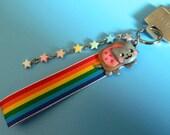 Nyan Cat Keychain Phone Strap Charm Rainbow Meme