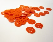 Halloween Pumpkin Paillettes Orange Embellishment - 30 pieces - free shipping with another item