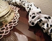 Cord Cover Black and White Spotted 17 feet all cotton Easy Care