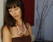 golden amber briolette bib necklace