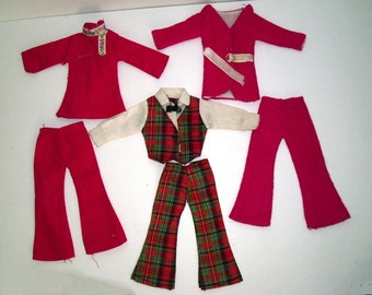 3 Missy-Mod Doll Outfits Circa 1960-70